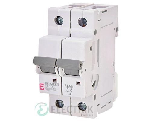 Автоматический-выключатель-ETIMAT-P10-(10кА)-2P-13-А-хар-ка-C,-ETI-(Словения) 271321103