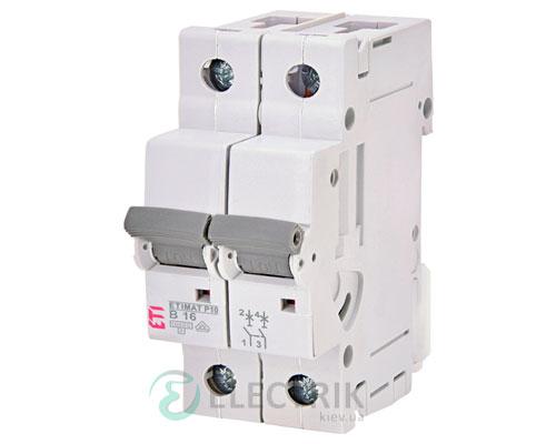 Автоматический-выключатель-ETIMAT-P10-(10кА)-2P-16-А-хар-ка-B,-ETI-(Словения) 271620101