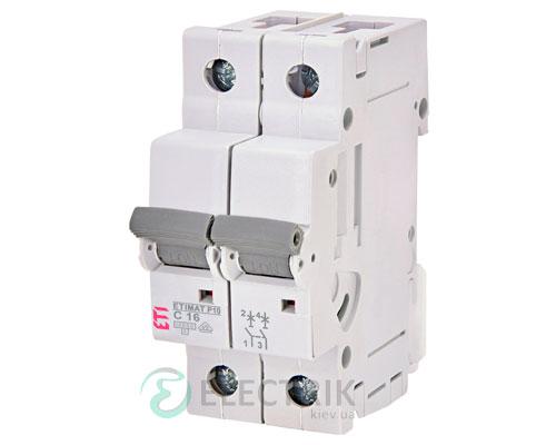 Автоматический-выключатель-ETIMAT-P10-(10кА)-2P-16-А-хар-ка-C,-ETI-(Словения) 271621102