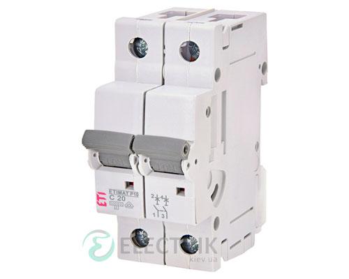Автоматический-выключатель-ETIMAT-P10-(10кА)-2P-20-А-хар-ка-C,-ETI-(Словения) 272021105