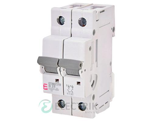 Автоматический-выключатель-ETIMAT-P10-(10кА)-2P-25-А-хар-ка-B,-ETI-(Словения) 272520109
