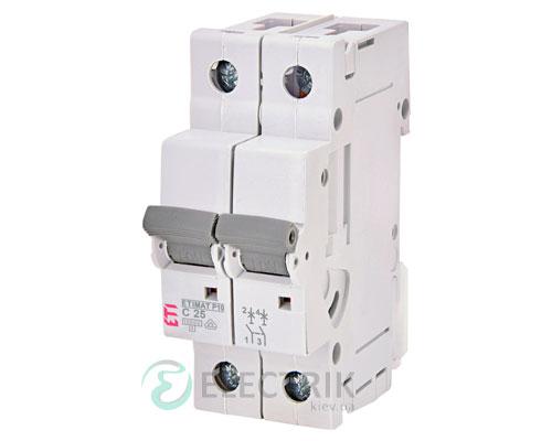 Автоматический-выключатель-ETIMAT-P10-(10кА)-2P-25-А-хар-ка-C,-ETI-(Словения) 272521100