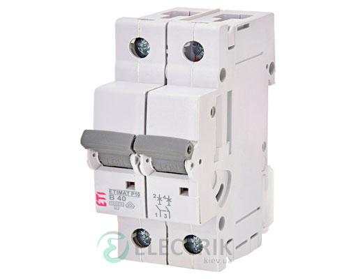Автоматический-выключатель-ETIMAT-P10-(10кА)-2P-40-А-хар-ка-B,-ETI-(Словения) 274020106