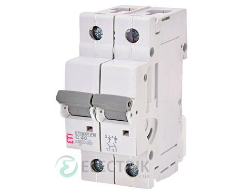 Автоматический-выключатель-ETIMAT-P10-(10кА)-2P-40-А-хар-ка-C,-ETI-(Словения) 274021107
