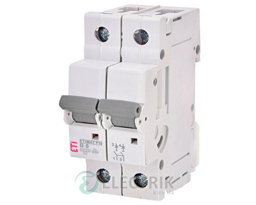 Автоматический-выключатель-ETIMAT-P10-(10кА)-2P-6-А-хар-ка-B,-ETI-(Словения) 270620100