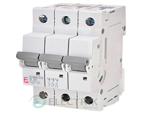 Автоматический-выключатель-ETIMAT-P10-(10кА)-3P-20-А-хар-ка-B,-ETI-(Словения) 272030101