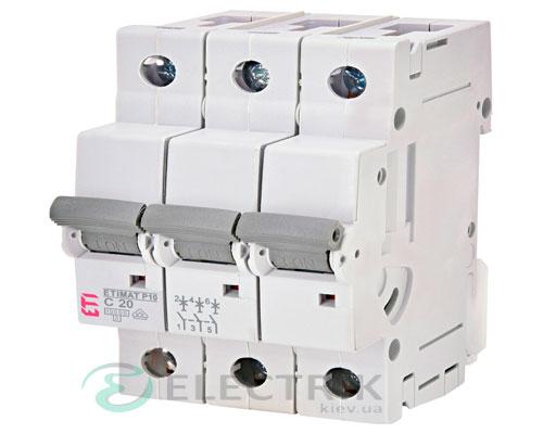 Автоматический-выключатель-ETIMAT-P10-(10кА)-3P-20-А-хар-ка-C,-ETI-(Словения) 272031102