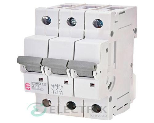Автоматический-выключатель-ETIMAT-P10-(10кА)-3P-32-А-хар-ка-D,-ETI-(Словения) 273232100