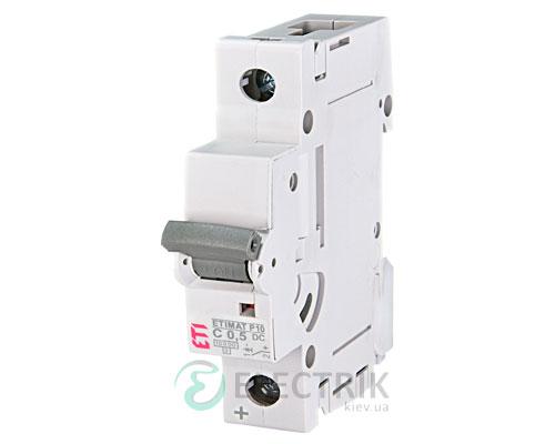 Автоматический выключатель ETIMAT P10 DC (10кА) 1P 0,5 А хар-ка C, ETI (Словения)