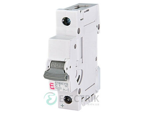 Автоматический выключатель ETIMAT P10 DC (10кА) 1P 1 А хар-ка C, ETI (Словения)