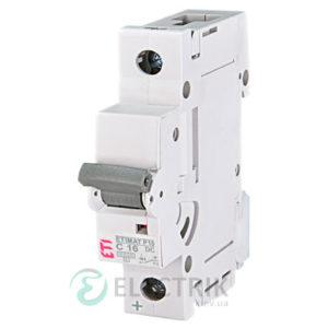 Автоматический выключатель ETIMAT P10 DC (10кА) 1P 16 А хар-ка C, ETI (Словения)