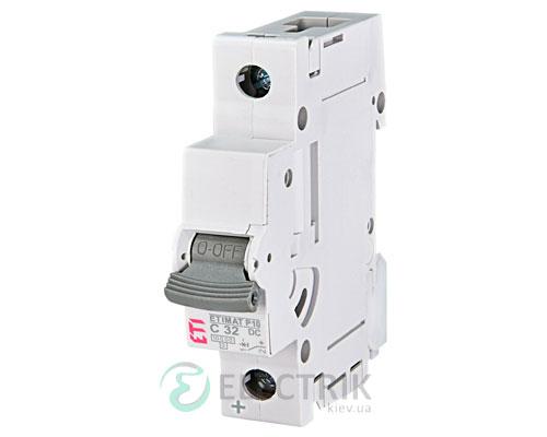 Автоматический выключатель ETIMAT P10 DC (10кА) 1P 32 А хар-ка C, ETI (Словения)