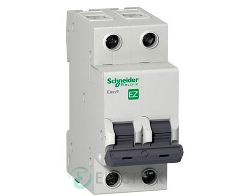 Автоматический выключатель Easy9 2p 63A, х-ка C, 4.5кА Schneider Electric