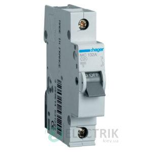 Автоматический выключатель MC132A 1P 6kA C-32A 1M, Hager