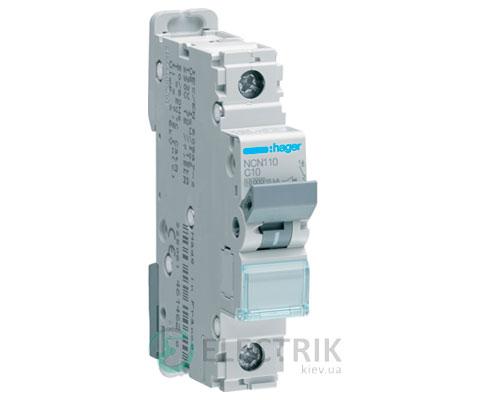 Автоматический выключатель NCN110 1P 10kA C-10A 1M, Hager