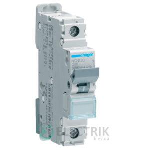 Автоматический выключатель NCN120 1P 10kA C-20A 1M, Hager