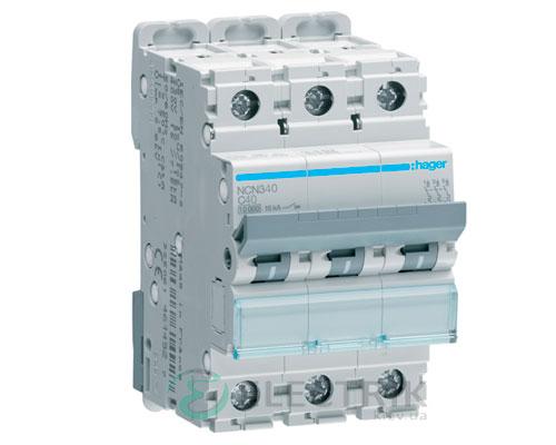 Автоматический выключатель NCN340 3P 10kA C-40A 3M, Hager