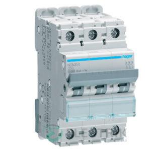 Автоматический выключатель NCN350 3P 10kA C-50A 3M, Hager