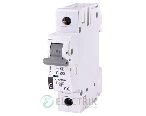 Автоматический-выключатель-ST-68-(4,5-кА)-1p-20-А-хар-ка-C,-ETI-(Словения) 2181317