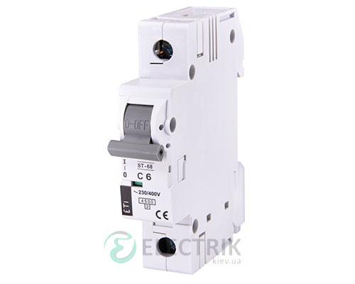 Автоматический-выключатель-ST-68-(4,5-кА)-1p-6-А-хар-ка-C,-ETI-(Словения) 2181312
