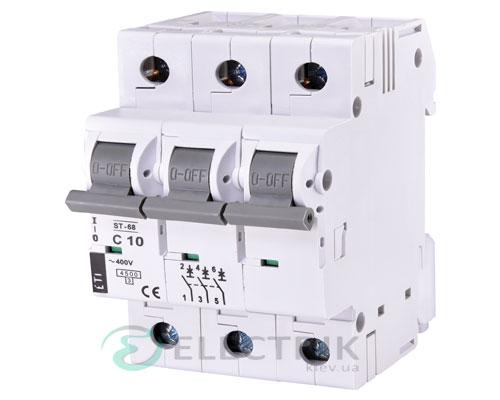 Автоматический-выключатель-ST-68-(4,5-кА)-3p-10-А-хар-ка-C,-ETI-(Словения) 2185314