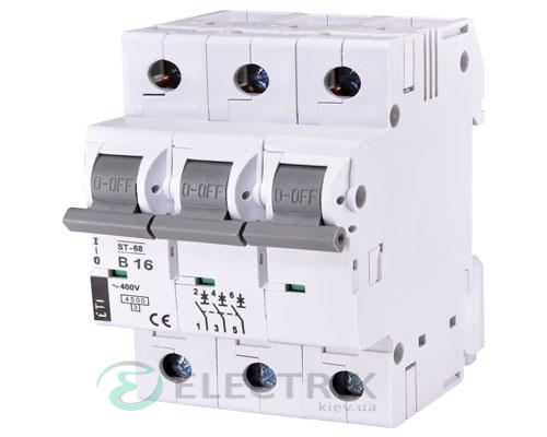 Автоматический-выключатель-ST-68-(4,5-кА)-3p-16-А-хар-ка-B,-ETI-(Словения) 2175316