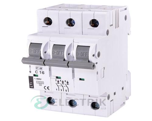 Автоматический-выключатель-ST-68-(4,5-кА)-3p-16-А-хар-ка-C,-ETI-(Словения) 2185316