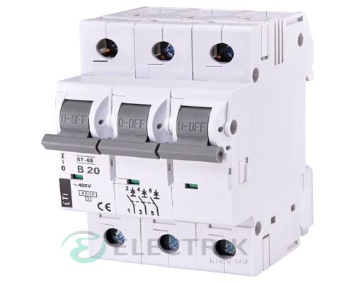 Автоматический-выключатель-ST-68-(4,5-кА)-3p-20-А-хар-ка-B,-ETI-(Словения) 2175317