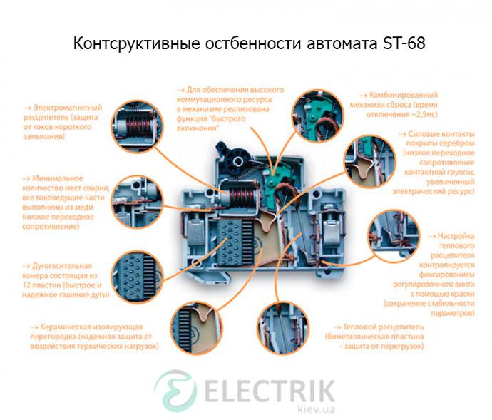 Автоматический-выключатель-ST-68-конструктивные-особенности