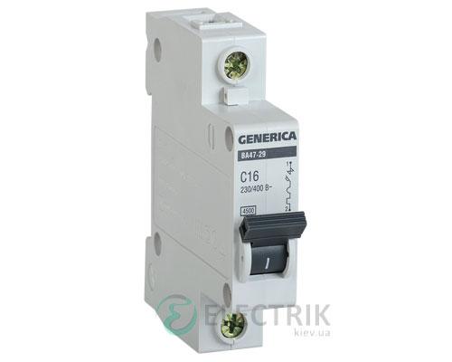 Автоматический-выключатель-ВА47-29-1Р-16А-4,5кА-С-GENERICA
