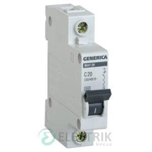 Автоматический-выключатель-ВА47-29-1Р-20А-4,5кА-С-GENERICA