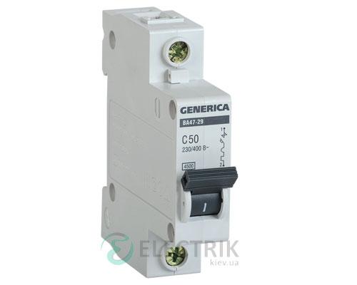 Автоматический-выключатель-ВА47-29-1Р-50А-4,5кА-С-GENERICA