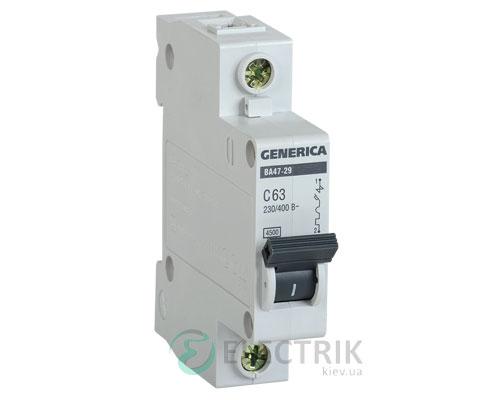 Автоматический-выключатель-ВА47-29-1Р-63А-4,5кА-С-GENERICA