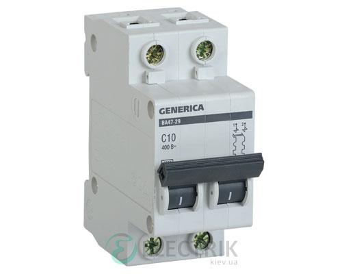 Автоматический-выключатель-ВА47-29-2Р-10А-4,5кА-С-GENERICA