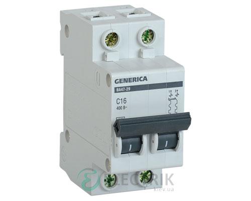 Автоматический-выключатель-ВА47-29-2Р-16А-4,5кА-С-GENERICA