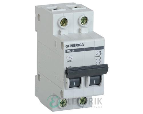 Автоматический-выключатель-ВА47-29-2Р-20А-4,5кА-С-GENERICA