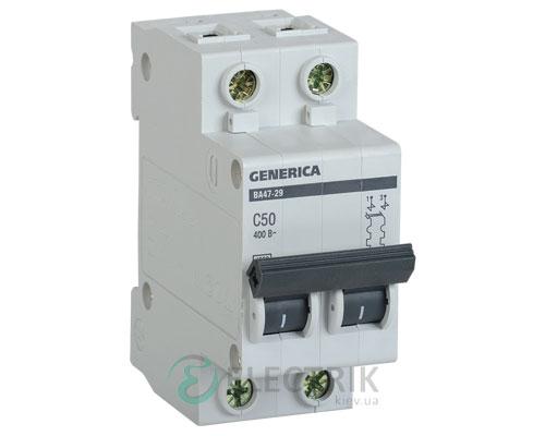 Автоматический-выключатель-ВА47-29-2Р-50А-4,5кА-С-GENERICA