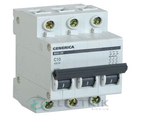 Автоматический-выключатель-ВА47-29-3Р-10А-4,5кА-С-GENERICA