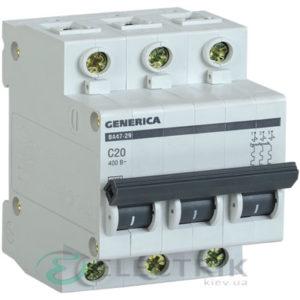 Автоматический-выключатель-ВА47-29-3Р-20А-4,5кА-С-GENERICA