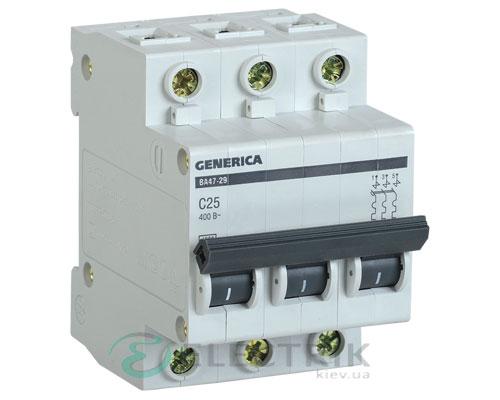 Автоматический-выключатель-ВА47-29-3Р-25А-4,5кА-С-GENERICA