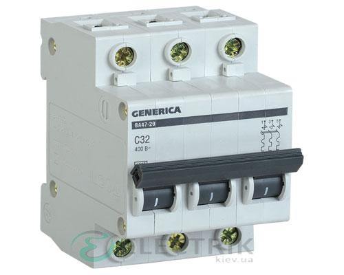 Автоматический-выключатель-ВА47-29-3Р-32А-4,5кА-С-GENERICA