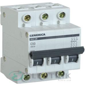 Автоматический-выключатель-ВА47-29-3Р-50А-4,5кА-С-GENERICA