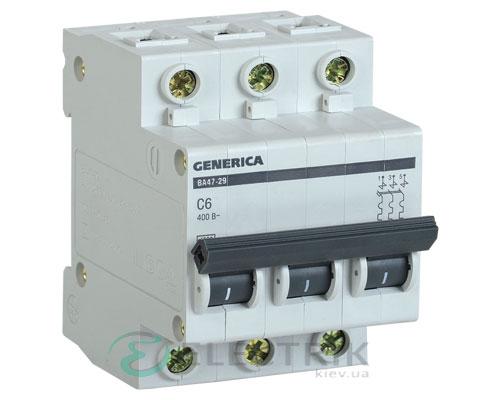 Автоматический-выключатель-ВА47-29-3Р-6А-4,5кА-С-GENERICA