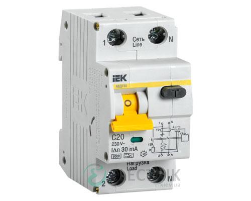 Автоматический выключатель дифференциального тока АВДТ32 C20 IEK MAD22-5-020-C-30