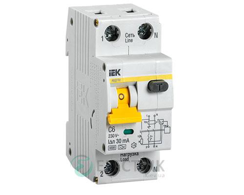 Автоматический выключатель дифференциального тока АВДТ32 C6 IEK MAD22-5-006-C-30