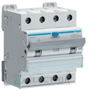 Дифференциальный автоматический выключатель ADM456C 4P 6kA C-6A 30mA тип A, Hager