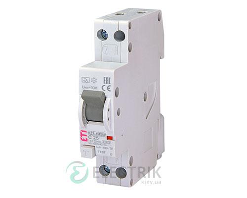 Дифференциальный-автоматический-выключатель-KZS-1M-SUP-C-25_0,03-тип-A-(6kA,-верхнее-подключение)