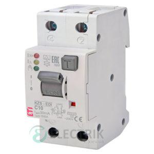 Дифференциальный автоматический выключатель KZS-2M2p EDI C 10/0,03 тип A (10kA)