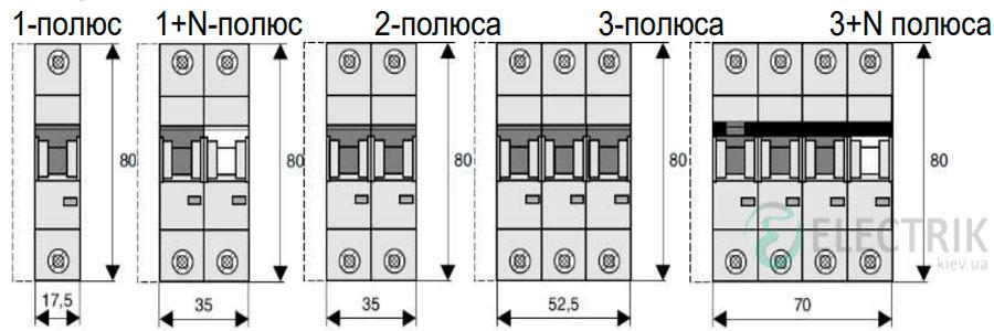 Габаритные-размеры-автоматических-выключателей-Eaton-HL-4