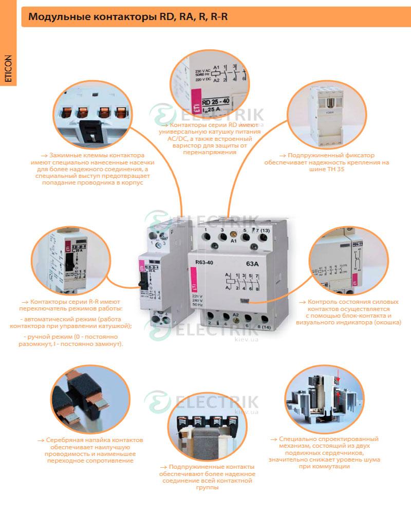 Особенности модульного контактора ЕТИ